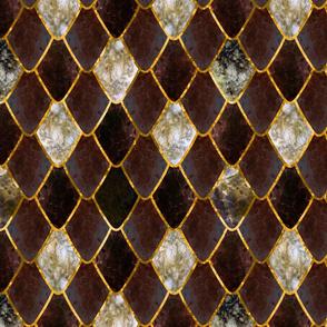 Rustic Formal Opal Gemstone Dragon Scales