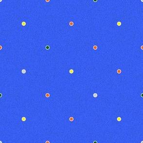 Polka Dots - Multi Dots on Bright Blue