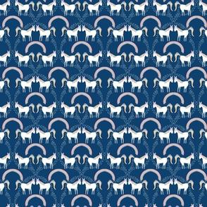 Unicorns Pooping Glitter- on dark blue