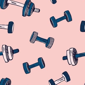 Womens fitness hand weights blush