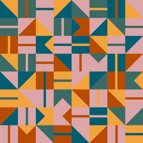 Geo Tile - Autumn Palette