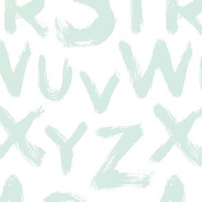 Alphabet letters large mint