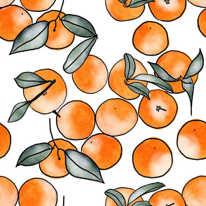 Watercolor Clementines