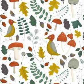 Fall and Forest icons on a light background