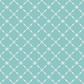 Charlotte Farmhouse Diamond Duckegg Blue