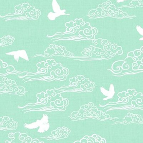 SwirlingClouds_Doves_Mint