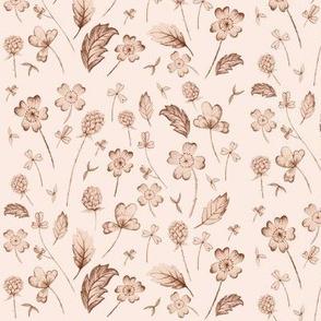 Wildflower Sketch Peach