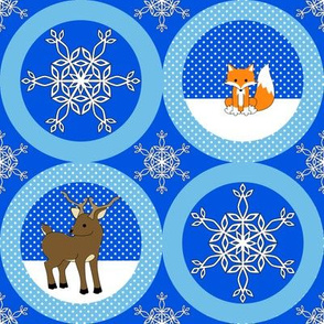 Fox and Deer Snow ornaments