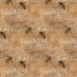1840s Bees on Clay | Maria's Feather Gingham