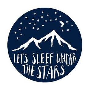 "Navy 6.5"" Let's sleep under the stars  C18BS"