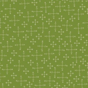 funky retro green pattern