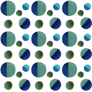 Water Blue CircleDesign (Large)