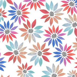 Bold Watercolor Daisies - Large