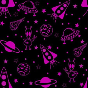 Space Pattern Black and Purple/Pink