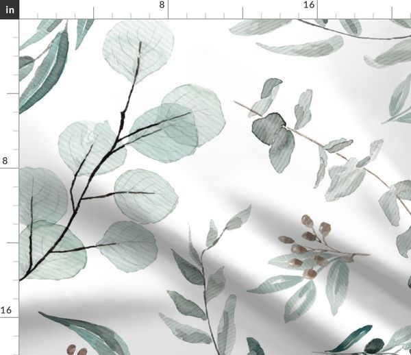 Botanical Look Fruit with Leaves on Tan Leaves WALLPAPER BORDER