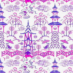 Stockwell Stylized pink-purple