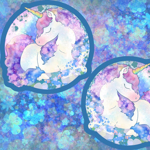 Sleeping Unicorn Two-Panel Pillow