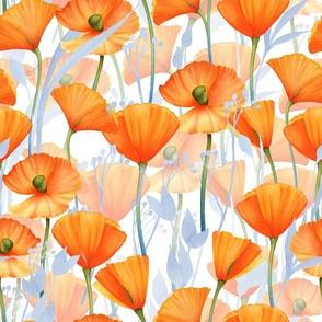 "18"" California  Poppy Meadow Double Layers"