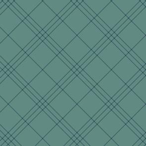 "Jacobite coat tartan, 6"" diagonal repeat  - slate grey with navy blue stripes"