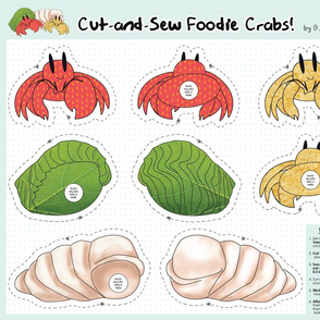 Cut-and-Sew Foodie Crabs