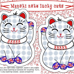 Maneki neko lucky cat cut + sew by Su_G_©SuSchaefer