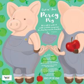 Percy Pig - Cut and Sew Cuddly 21 x 18inch