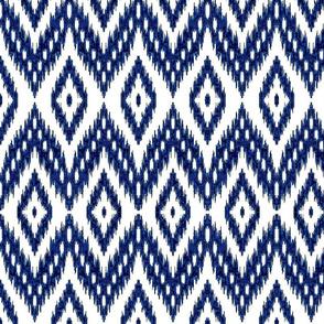 ikat navy blue