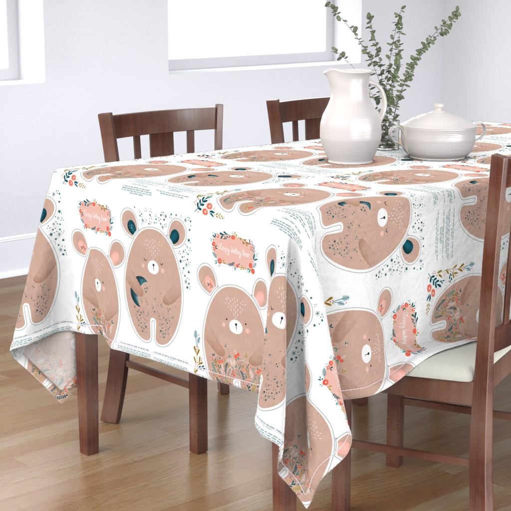Bantam Rectangular Tablecloth featuring Sleepy Wakey Bear DIY fat quarter by sarah_knight
