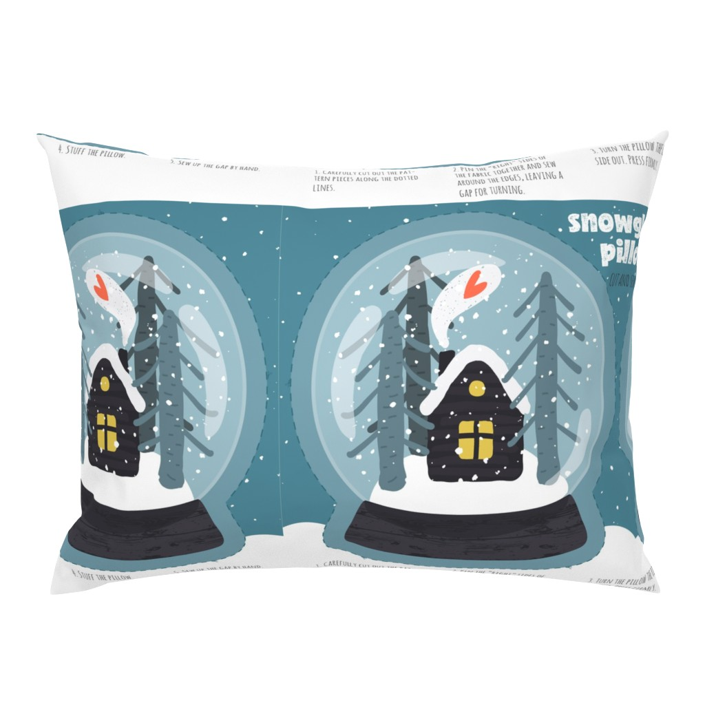Campine Pillow Sham featuring Snowglobe Pillow by anastasiia_macaluso