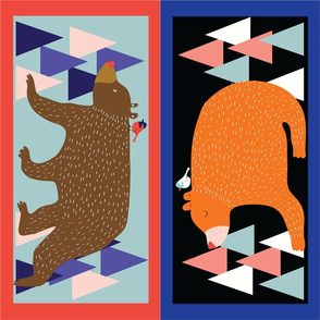Bear _ Chipmunk pillows_©Solvejg Makaretz-01