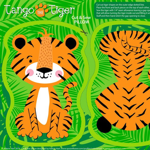 Tango the Tiger Cut & Sew Safari Plushie Pillow Pattern