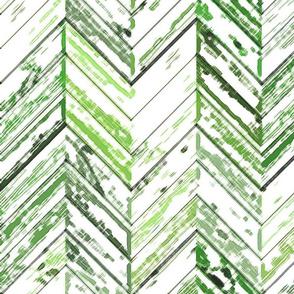 Whitewashed Wood Parquetry - Sage