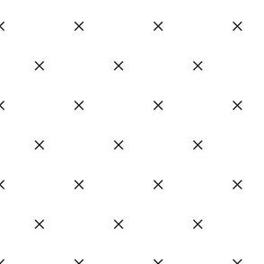 Monochrome X's