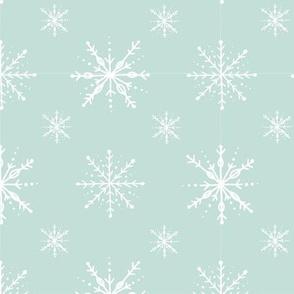 Aqua Back Snowflakes