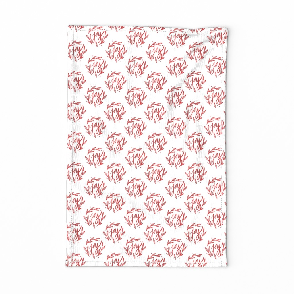 Special Edition Spoonflower Tea Towel featuring Farmhouse Modern Christmas Joy Horizontal by radianthomestudio