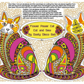 Flower Power Cat Cut-and-Sew