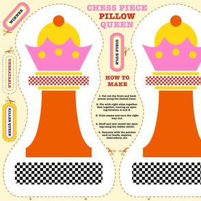 Chess Queen Cut & Sew Pillow