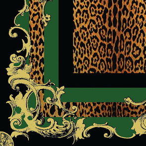 Baroque Plaid Green Large