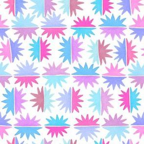 Watercolor Starburst Tile