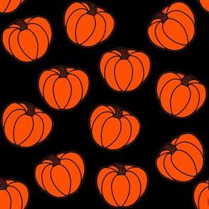 Pumpkins Black Background