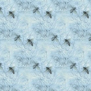 1840s Bees in Something Blue