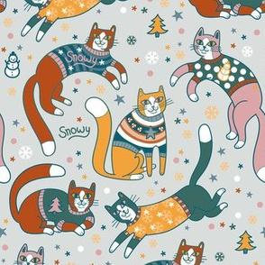 sweater kitties! in grey