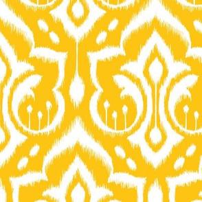 Ikat Damask - Golden Rod
