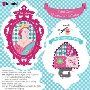 Fabric Queen ornament