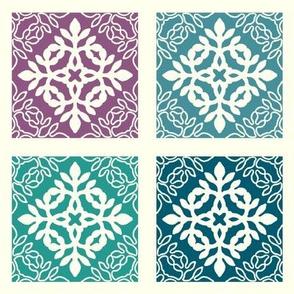 Mix n Match Mini Hawaiian Quilt Ornament or Mini-quilt