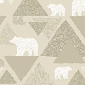 Mountain Bears - light beige
