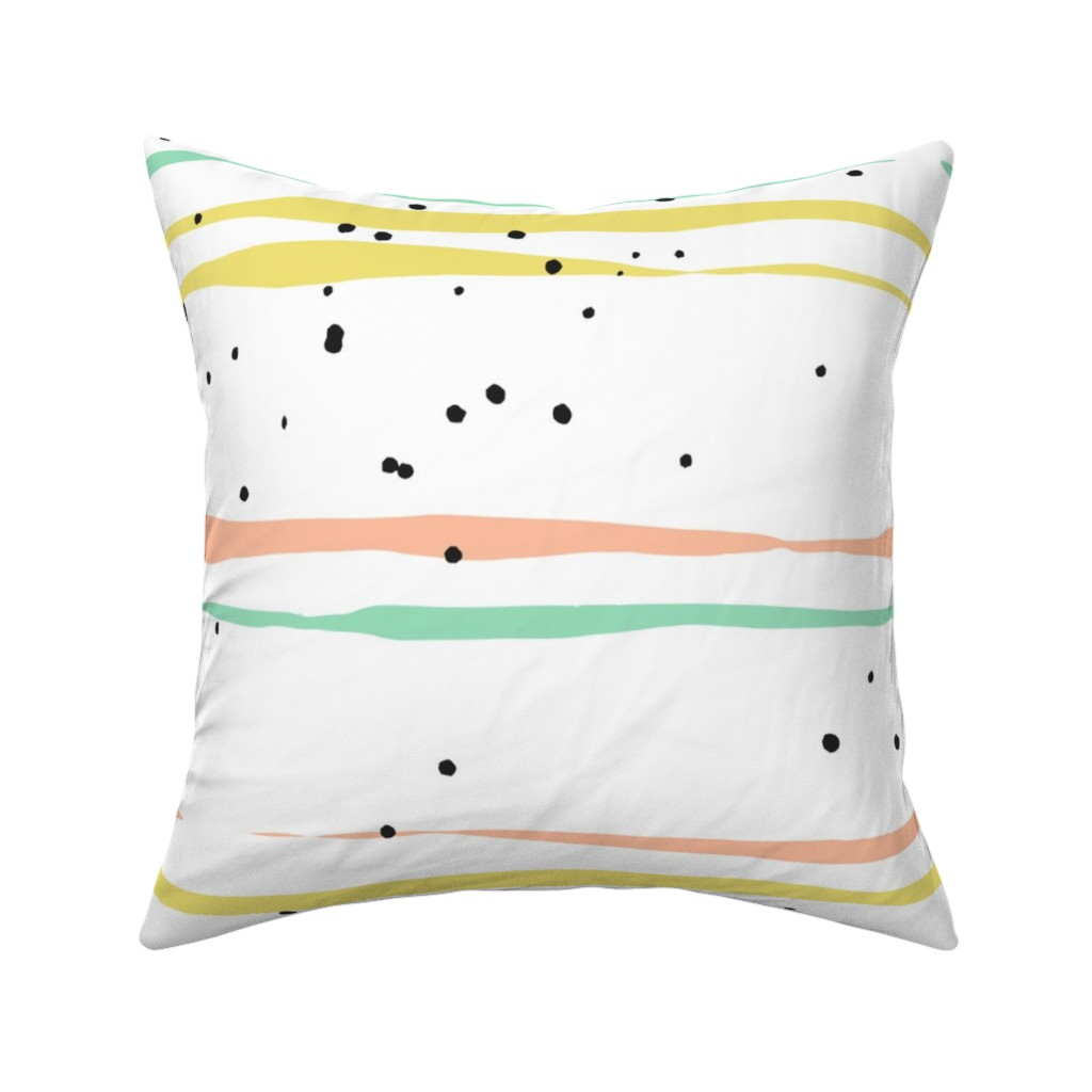 Catalan Throw Pillow featuring Striped Lines and Dots by anastasiia_macaluso