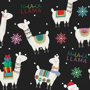 FS Fa La La Llama Christmas Print