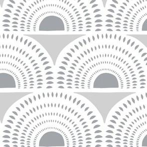 Aurora - Grey Geometric Large Scale