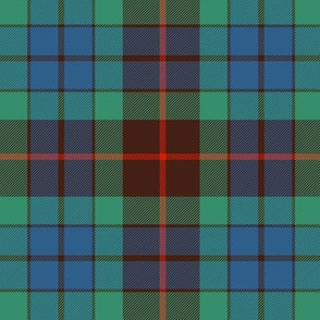 "Fraser hunting tartan, 10"" ancient"